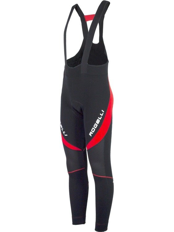 Rogelli Travo 2.0 - Men's cycling trousers with gel inserts (black and red)