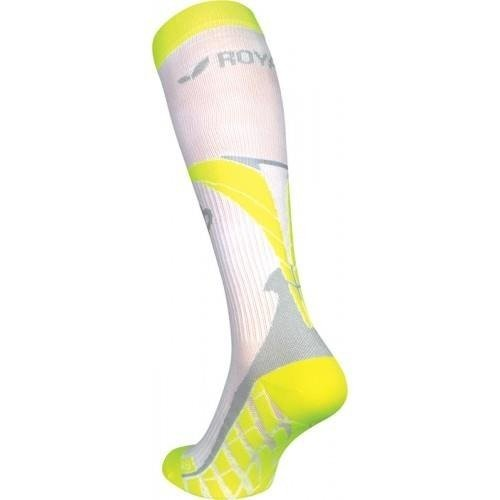 Royal Bay Air - knee compression (white and pink)
