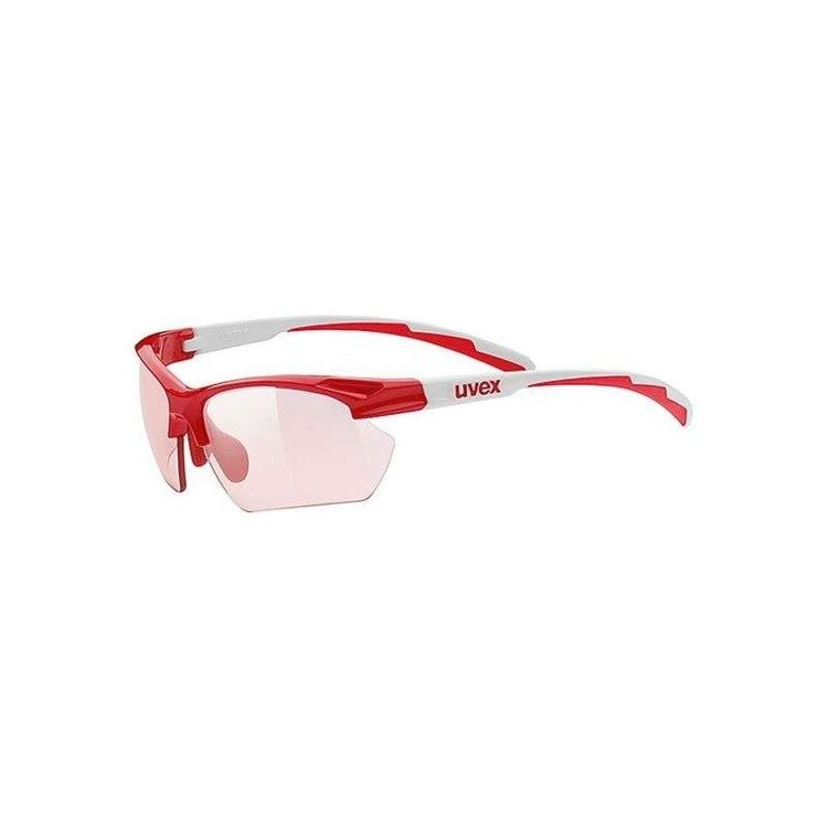 Uvex Sportstyle 802 small - sunglasses (white and red)
